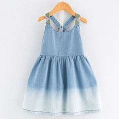 Bear Leader Girls Denim Dress 2017 New Summer Dress European and American Style Kids Dress Children Clothing 3-7Y Girls Clothes