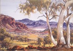 Indigenous Australian artist Albert Namatjira is arguably Australi. Indigenous Australian artist Albert Namatjira is arguably Australia's best known Ab Watercolor Landscape, Landscape Art, Landscape Paintings, Watercolour Painting, Art Paintings, Landscape Photography, Aboriginal History, Aboriginal Artists, Aboriginal People