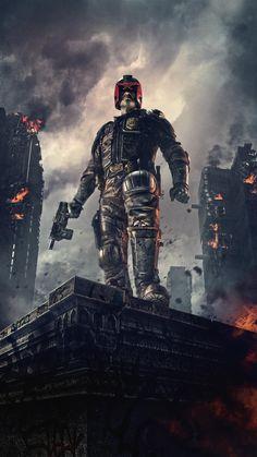 Watch Dredd : Online Movie In The Future, America Is A Dystopian Wasteland. Judge Dredd Movie, Dredd 2012, Judge Dread, 2000ad Comic, Movie Wallpapers, Phone Wallpapers, Ex Machina, Science Fiction Art, Cultura Pop