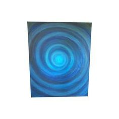 """Blue Infinity"" Acrylic Painting"
