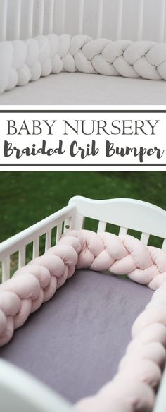 This braided crib bumper is so precious! I'm in love with it, the pastel colors are so beautiful! It's perfect for our baby girl nursery. #braidedcribbumper #babynursery #braidedbedbumper #baby #babygirlnursery #cribbumper #beautifulbabynursery #ad