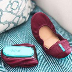 Burgundy Tieks - Designer Leather Ballet Flats