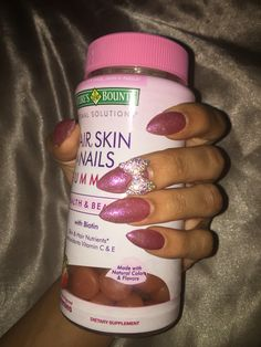 Reviews on nature's bounty hair, skin, & nails gummies. Have they been making you sick???  (Nail polish from OPI Hello Kitty Collection)
