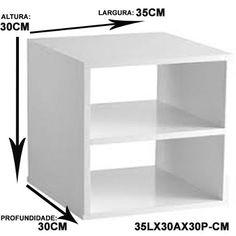 nicho criado mudo suspenso 100% mdf 15mm branco- 35x30x30 cm