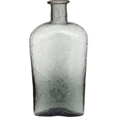 Charcoal Grey Recycled Glass Vases (flask Design) ($8.76) ❤ liked on Polyvore featuring home, home decor, vases, glass vessel, glass hip flask, cultural intrigue, glass flask and hand blown vase