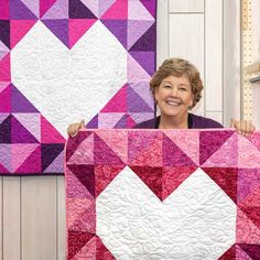 Inside Out Heart Wall Hanging Show that special someone how much you care with the Inside Out Heart Wall Hanging. This modern qui Missouri Star Quilt Tutorials, Quilting Tutorials, Quilting Designs, Quilt Design, Star Quilts, Mini Quilts, Quilt Blocks, Scrappy Quilts, Heart Quilt Pattern