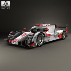Audi R18 e-tron Quattro 2015 3d model from humster3d.com. Price: $75