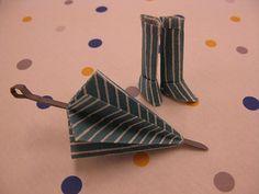 傘と長靴 : かわいい【折り紙】作品集 折り方&アレンジ例 【インテリア】 - NAVER まとめ