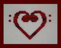 Alto Clef Music Love PDF Cross Stitch by BlueTopazStitchery