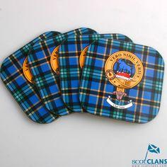 Clan Crest & Tartan Coaster 4 Pack
