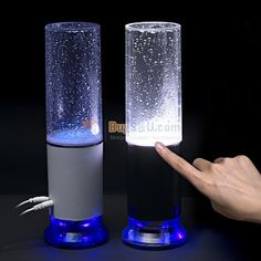 Unique 2-in-1 USB Rechargeable Colorful Water-drop Touch Sensor LED Table Lamp Light with Mini Speaker (Color Optional)