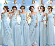 light blue Bridesmaids dress Han edition marriage gauze dress Long the bride to propose a toast Evening dress Sister skirt beach dress