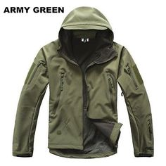 Men Waterproof Fleece Softshell Tactical Jacket V4.0 TAD Hunting Stealth Hoodie