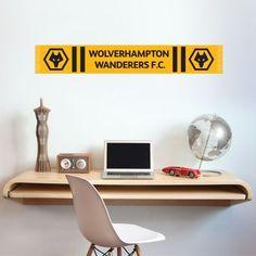 Wolverhampton Wanderers FC Crest Badge Wall Sticker Wolves Decal Mural Set
