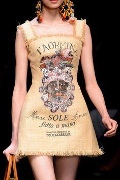 Dolce & Gabbana Spring 2013 - Details | Feedsack Clothiers