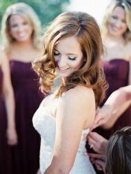 Elegant Burgundy + Gold Arizona Wedding - Style Me Pretty Burgundy Bridesmaid Dresses, Prom Dresses, Formal Dresses, Little Black Books, Burgundy And Gold, Arizona Wedding, Elegant Wedding, Wedding Styles, Style Me