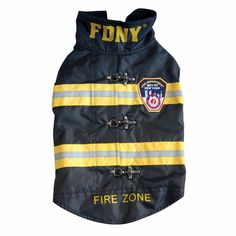 Royal Animals Authentic Licensed Water-Resistant Fleece-Lined Black FDNY Dog Coat Royal Animals, Fire Badge, Funny Dog Memes, Chihuahua Love, Dog Coats, Pet Clothes, Pet Accessories, Black Fabric, Pets