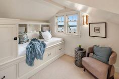 Built in bed and storage under eaves. 1924 Cedar Park craftsman 12049 Lakeside Pl NE: Loft Bedroom