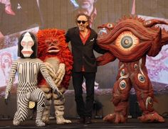Tim Burton hanging out with Japanese yokai (spirits) is the most Tim Burton thing we've ever seen.