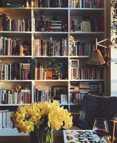 home library bookcase decor Sweet Home, Home Libraries, My New Room, Bookshelves, Bookshelf Diy, Bookcase Wall, My Dream Home, Home And Living, Room Inspiration