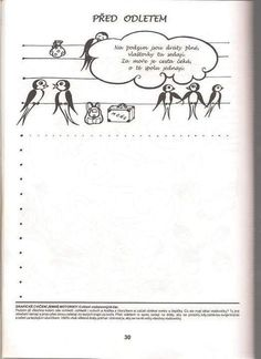 klikni pro další 172/384 Autumn Activities For Kids, Crafts For Kids, Worksheets, Free Printables, Alphabet, Language, Birds, Children, School