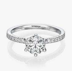 NEW 2/3 CT Diamond Engagement Ring D/SI 14K White Gold Enhanced Round Cut #WeddingRings https://www.discount-wedding-rings.com/product/23-ct-diamond-engagement-ring-dsi-14k-white-gold-enhanced-round-cut/