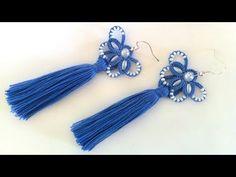 Серьги кисточки фриволите иглой, анкарс. МК для начинающих. DIY Earrings tassels to frivolite needle - YouTube