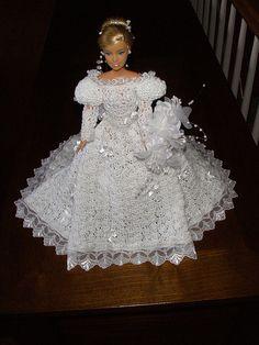 Barbie's Crocheted Wedding Dress/Gown