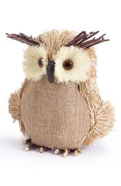 Burlap Owl