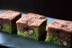 """UKISHIMA (translated """"floating island"""") is a traditional Japanese wagashi (confection) and it is a two layered steamed cake made from koshian(こし餡), eggs, and flour"""
