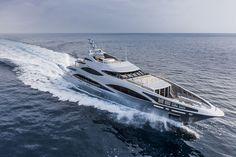 A sleek 47-metre aluminium yacht built by luxury Italian shipyard Benetti
