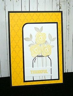 Amuse Studio Mason Jars and Love and Thanks stamp set work together so well.  #March2015Collection