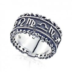 Magical Power series-Sterling Silver Magic of Constellation Mens Ring