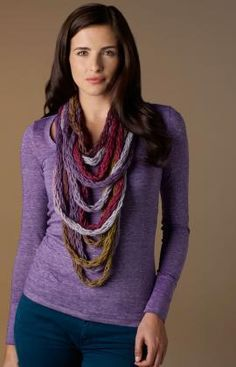 Wrap & Tie Necklace Free Craft Pattern from Red Heart Yarns
