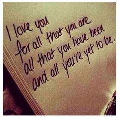 I love you for all that you are love love quotes quotes quote i love you love images love sayings Cute Quotes, Great Quotes, Inspirational Quotes, Motivational Quotes, Funny Quotes, Cute Love Sayings, Positive Quotes, Simple Love Quotes, Quotes Pics