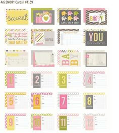 Simple Stories Sn@p Cards Baby Girl! CHAS Release.
