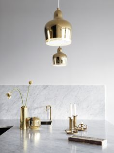 Grey, brass and marble - via cocolapinedesign.com