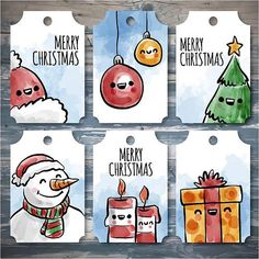En güzel dekorasyon paylaşımları için Kadinika.com #kadinika #dekorasyon #decoration #woman #women free vector merry christmas gift tags