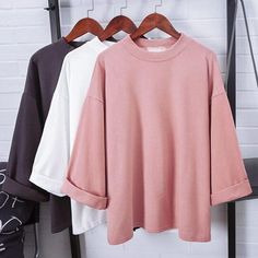 Cheap suit sport, Buy Quality suit liner directly from China sweatshirt coat Suppliers: Aescondo European Style Turtleneck Casual Loose T-shirt Women New 2017 Spring Fashion Three-quarter Sleeves Oversize Tshirt