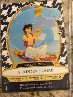 Walt Disney World Sorcerers of the Magic Kingdom Card #23 Aladdin's Lamp