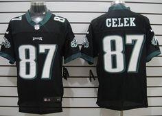 Nike Philadelphia Eagles #87 Brent Celek Black Elite Jersey