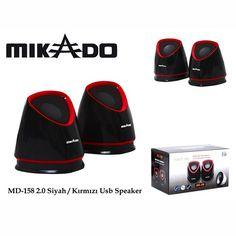 MIKADO MD-158 SİYAH/KIRMIZI USB HOPARLÖR « Turuncu Dükkan - Online alışveriş keyfi