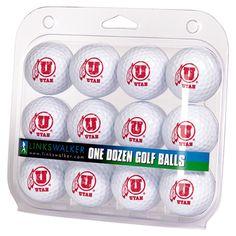 Utah Utes NCAA Golf Balls 12 Pack