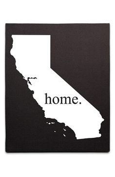 'Home State' Canvas Wall Art available at #Nordstrom