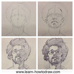 http://www.freshdesigner.com Head drawing process by Chris Legaspi. Pen drawing on toned sketchbook paper.