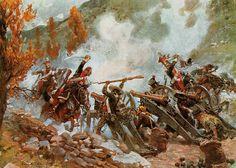 Battle of Somosierra - 3rd battery attacked