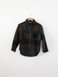 rare vintage wool flannel  small women's shirt  by IronCharlie