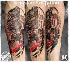 Eagle trash polka - Krisztian Art Tattoo