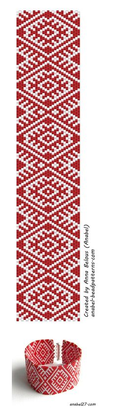 "Scheme to the bracelet ""Agrimony"" - a mosaic weaving"