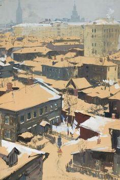 """Шепелев Л.В. """"Москва. Район Переяславских улиц"""".1960"""